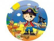 Тарелка Маленький пират 17см 6шт/уп