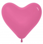 S Сердце Тёмно Розовый / Fuchsia