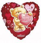 K Сердце РУС-22 Любовь Медвежонок на красном