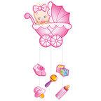 Подвеска С Днем Рождения Малыш розовая