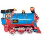 Поезд синий