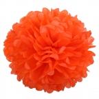 Помпон из бумаги оранжевый