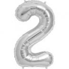 """Цифра """"2"""" Серебро в упаковке / Two"""
