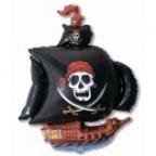 Пиратский корабль черный