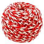 Шнур хлопковый Бело-Красный 2 нити / 50 м